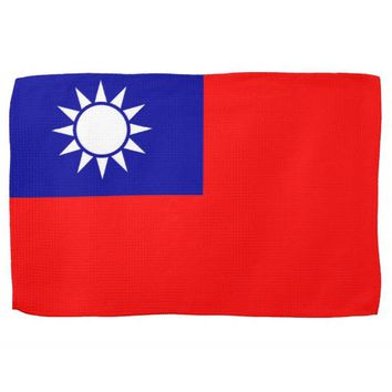 Kitchen towel with Flag of Taiwan