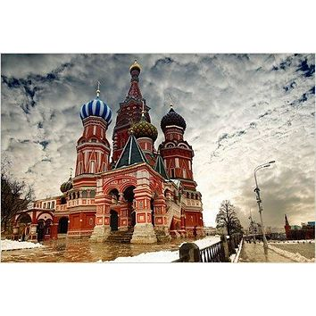 russian architecture ANCIENT ONION DOMES photo poster AMAZING SKY 24X36