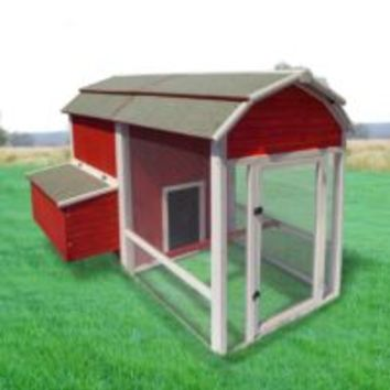 Precision Pet Products Old Red Barn Chicken Coop, 6-8 Chickens
