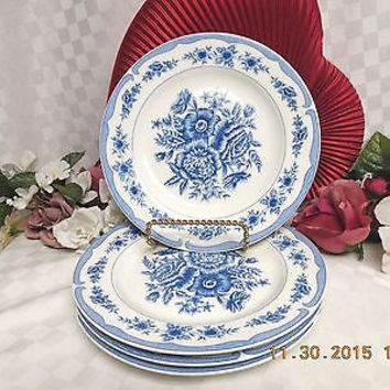 American Atelier, white China Patt #5197 Floral Toile, 4 Salad Plate MRSP $40.00