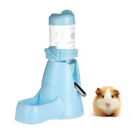 80ml 3 in 1 Hamster Water Bottle Food Container for Small Cat Dog Rabbit Hamster Drinking Feeding Rest