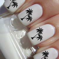 Palm Tree Nail Decals by PineGalaxy on Etsy