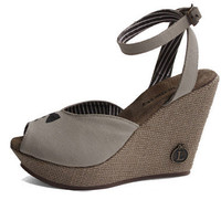 Loly in the Sky — Andrea beige wedges with tuxedo - Loly in the sky - Spring/Summer Collection
