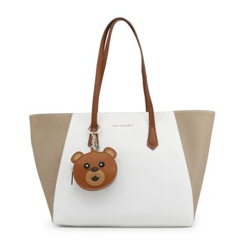 Blu Byblos White Leather Shopping Bag