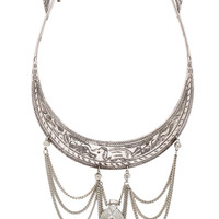 Vanessa Mooney Nebulous Statement Necklace in Metallic Silver