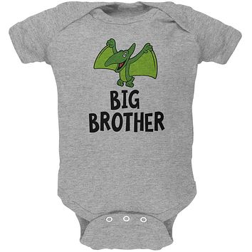 Big Brother Dino Dinosaur Pterodactyl Soft Baby One Piece