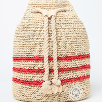 Rhythm Maldives Stripe Paper Weave Backpack at PacSun.com