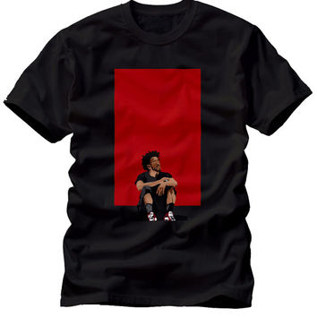 J Cole Dreamville Dolla and Dream Forest Hills Illustration Black Concert Unisex T Shirt