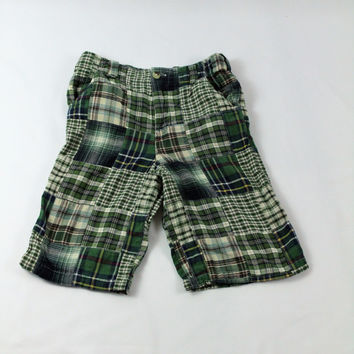 Greendog Madras Plaid Shorts, size 7X