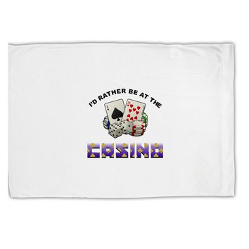 I'd Rather Be At The Casino Funny Standard Size Polyester Pillow Case by TooLoud