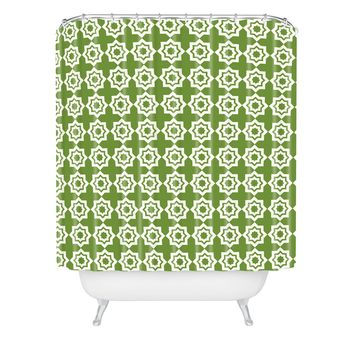 Khristian A Howell Moroccan Mirage Green Shower Curtain