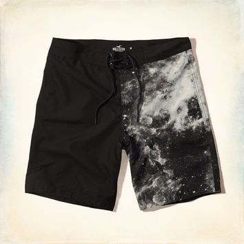 Galaxy Print Classic Fit Swim Shorts