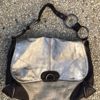 Ellen Tracy Pebbled Leather Shoulder Bag