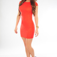 Looking For Love Dress: Bright Red