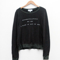 Wildfox Congrats Baggy Beach Jumper