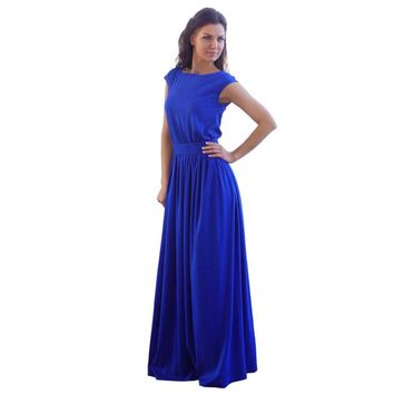 Sleeveless sexy Long Dress Elegant Slim  ,Plus size is also available