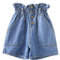 High Waisted Shorts in Denim