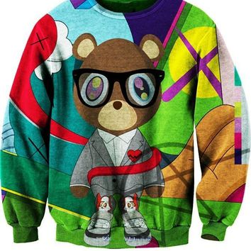Fashion New 3D Cartoon Clothing Sweatshirt Memories kanye West Graduation Beer Women Men Crewneck Hoodies Autumn Spring Autumn