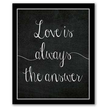 INSTANT DOWNLOAD, Love Is Always The Answer, Printable Art, Chalkboard Art, Inspirational Art, Motivational Quote, Home Art, Living Room Art