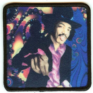 Jimi Hendrix Iron-On Patch Hey You Pointing