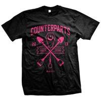 Counterparts: Grave (Valentine's Day) T-Shirt (Black)