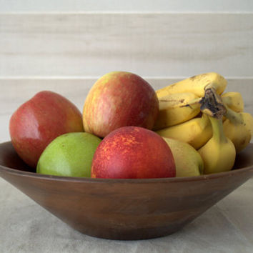 Vintage Farmhouse Wood Bowl