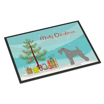 Kerry Blue Terrier Merry Christmas Tree Indoor or Outdoor Mat 24x36 BB2910JMAT