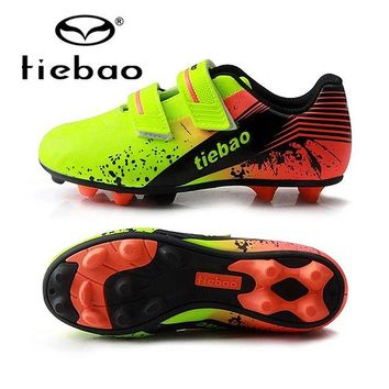 TIEBAO Football Boots Children Professional Soccer Shoes Boys Football Boots Outdoor Anti-Slip AG Soles Soccer Cleats