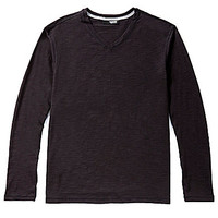Murano Long-Sleeve Slub V-Neck Tee