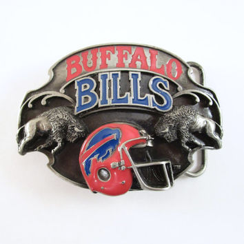 1987 Buffalo Bills Belt Buckle, Vintage Football Buckle, NFL Licensed Buckle, Limited Edition, Sports Belt Buckle, Men's Stocking Stuffer