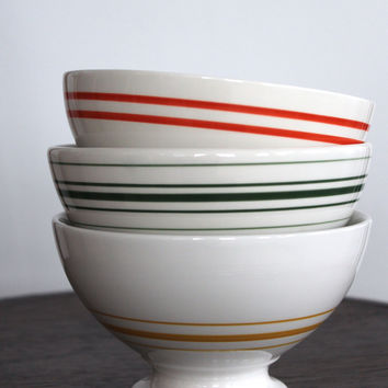 Striped Au Lait Bowls