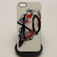 White Red Smoking Weeknd XO   - iPhone 4 / 4s / 5 Case Cover - //  Drake OVO Weed Smoke Trill
