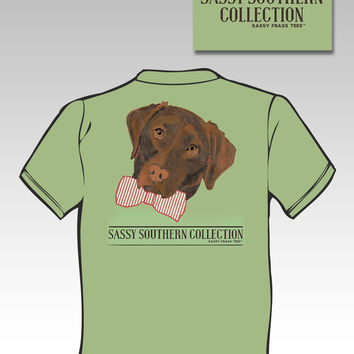 Sassy Frass Funny Preppy Lab Dog Bow Tie Comfort Colors Girlie Bright T Shirt