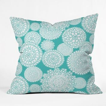Heather Dutton Delightful Doilies Tiffany Throw Pillow