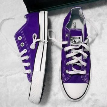 Converse All Star Sneakers canvas shoes for Unisex sports shoes low-top Sapphire blue-1