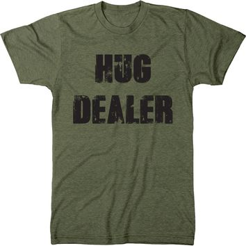 Hug Dealer Mens Modern Fit Tri-blend T-shirt