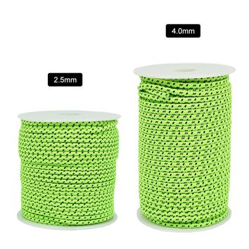 50M 2.5/4MM Tent Rope Accessories Reflective Rope Paracord Cord Gear Outdoor Gear Lanyard 1 Inner Strand for Camping Tent Awning