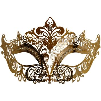 Gold Metal Venetian Half Eye Mask