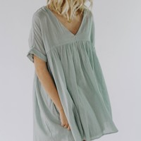 Owen Babydoll Dress (Sage)- PRE ORDER