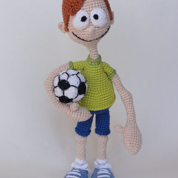 Sporty Stevie - Amigurumi Crochet Pattern