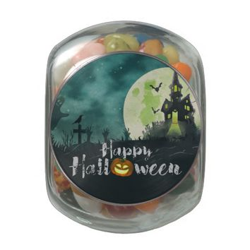 Spooky Haunted House Costume Night Sky Halloween Glass Jar