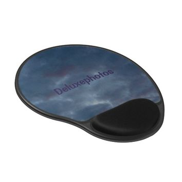 Colorful Blue Clouds Gel Mouse Pad