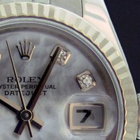 ROLEX Ladies White Gold & SS Datejust MOP Diamond 179174 - SANT BLANC
