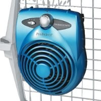 Proselect Deluxe Thermostatic Pet Crate Fan, Ice Blue