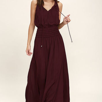 Star Sisters Burgundy Maxi Dress