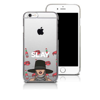 SLAY Lobster and Hot Sauce iPhone Case