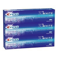 Crest 3d White Vivid Anticavity Teeth Whitening Radiant Mint Toothpaste Triple Pack 5.8 Oz, Packaging May Vary