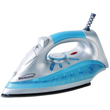 Brentwood Nonstick Steam And Dry Spray Iron With Silver Finish