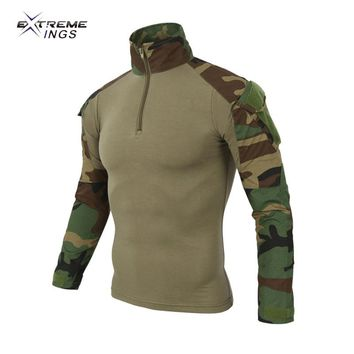 Extreme challenge outdoor camouflage clothing frog long sleeves Jersey Tactical training shirt clothing Dry Quick Hunting Shirt