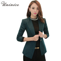 Blazers Women Jackets 2017 Blazer Women blazer Short Coat Casual One Button Outerwear Linen Plus Size 4XL Women Blazer Feminino